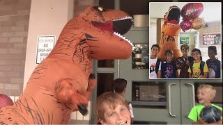 Why This Mom Wears a T-Rex Costume To Pick Up Kids From School