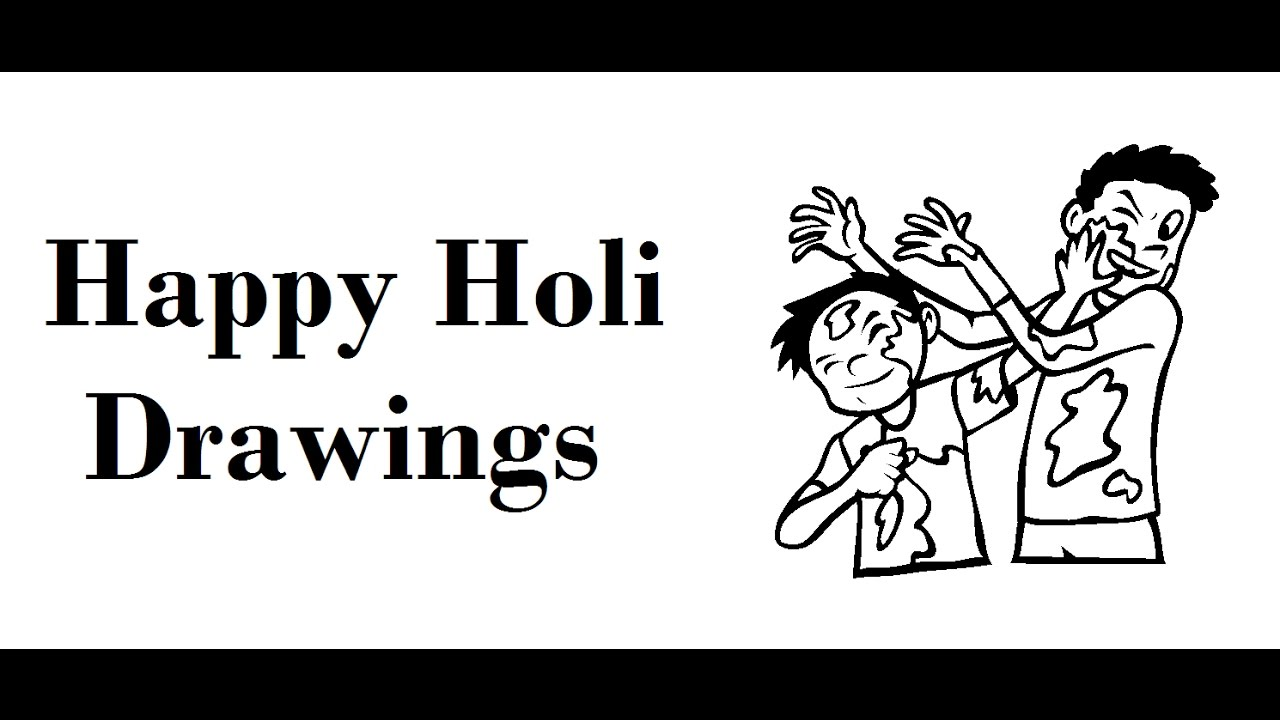 how to draw happy holi cards drawing celebration ideas youtube
