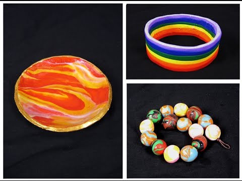 Art Lesson:  How to make easy polymer clay jewellery