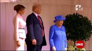 La falta de cortesía que tuvo Donald Trump con la reina Isabel de Inglaterra