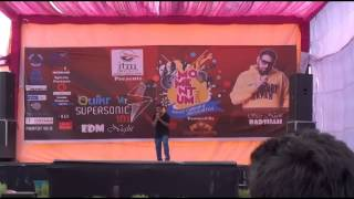 Rap it up (competition; round 2), ITM university, Gurgaon, India; Performer.. Shaunak Rawat