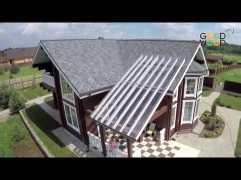Заглянем внутрь деревянного дома. Дом из клееного бруса по индивидуальному проекту.