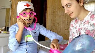 Miss Polly had a Dolly Song | Guka and Maria Pretend Play with Baby Balloons Guka Family Show