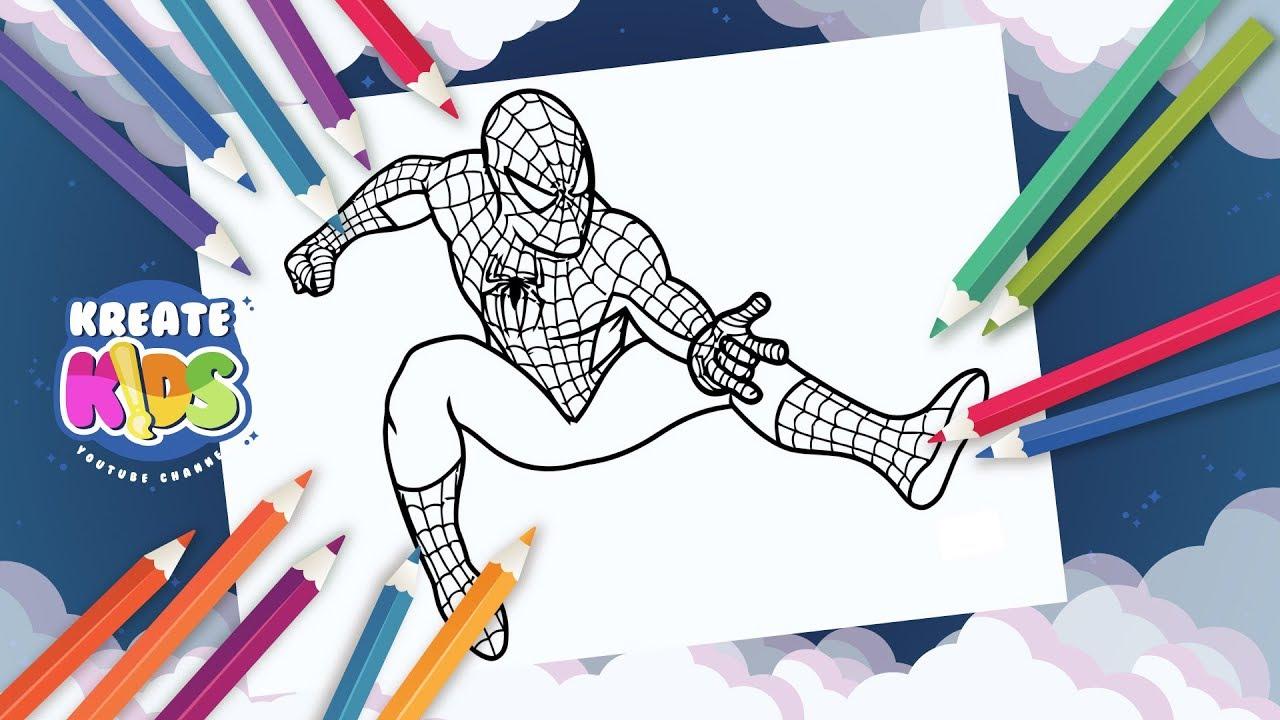 Supereroi Marvel Da Colorare.Marvel Spiderman L Uomo Ragno Disegni Da Colorare Coloring Painting Youtube