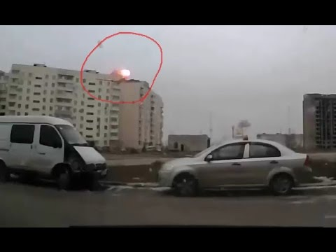 Ukraine War 2015 - Attack On Mariupol DashCam Of Fierce Grad Strike During Assault On Mariupol