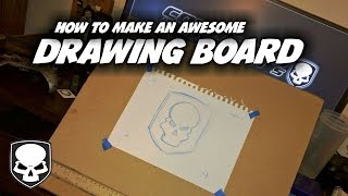 This is how to make a drawing board for super cheap. Whether you