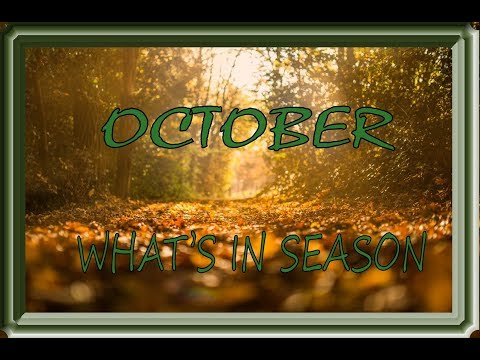 October what's in season seasonal vegetables and fruits