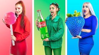 Цветной челлендж Покупаем вещи и едим еду одного цвета 24 часа