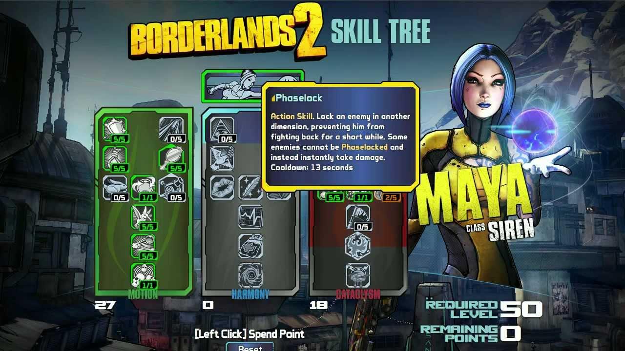 Maya Borderlands  Skill Tree Build