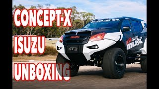 "UNBOXING The world's CRAZIEST Isuzu 2.4m/8 foot wide. 38"" tires, long travel suspension. First Look!"