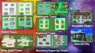 Pokémon All Hometown/City Theme From Gen [1~7]