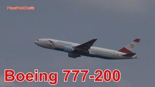 Austrian Airlines Boeing 777-200 Takeoff Vienna Airport