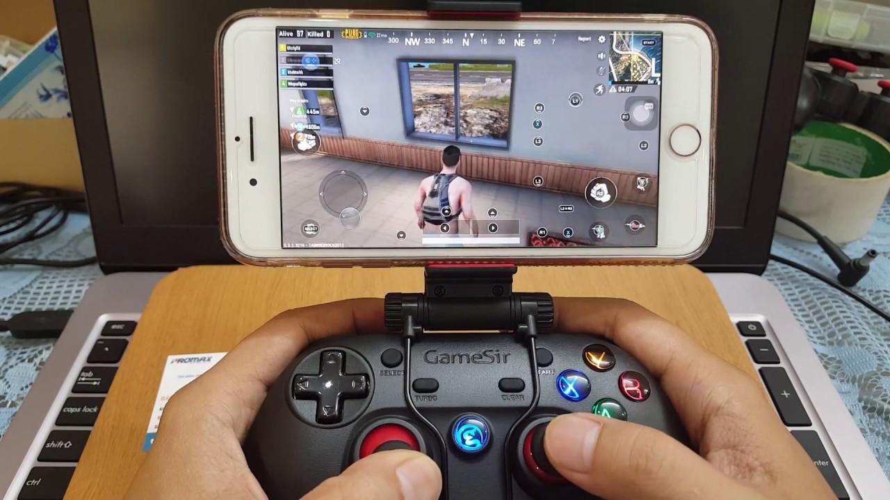 Tay cầm chơi game PUBG Mobile cho IOS iphone ipad không cần JB