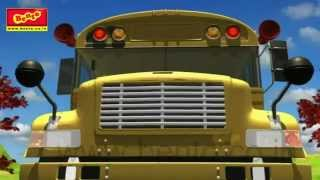 the wheels on the bus go round and round rhyme cartoon animation rhymes songs for children