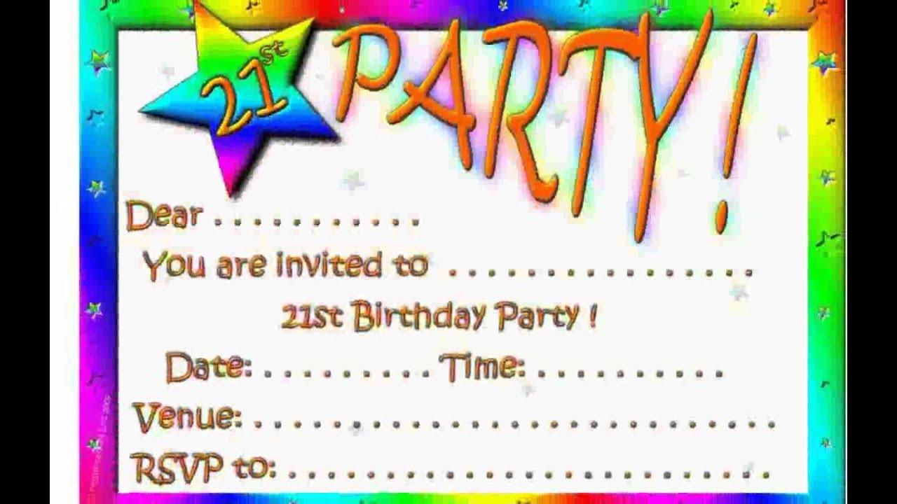Birthday Invitations - YouTube