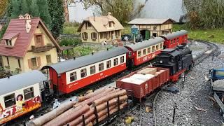 Herbstlicher HSB-Fahrtag auf Carsten`s LGB-Gartenbahn