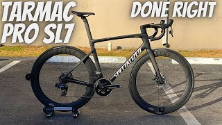 THE TARMAC PRO SL7 DONE RIGHT!!! (SPECIALIZED TARMAC PRO FRAME BUILD) *REYNOLDS AND SRAM FORCE*