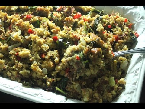Collard Green & Smoked Turkey Cornbread Dressing - I Heart Recipes