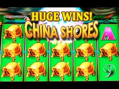 MAX BET! - China Shores Slot - HUGE SLOT WIN(S) - Slot Machine Bonus - 동영상