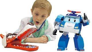 Видео для детей про игрушки. Доктор Даник и его пациенты Робокар Поли и Доктор Плюшева