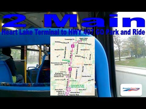 2 Main - Brampton Transit 2007-08 Nova Bus LFS 0817 & 0712 (Heart Lake to HWY 407 GO Park and Ride)
