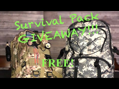 FREE SURVIVAL PACK GIVEAWAY!