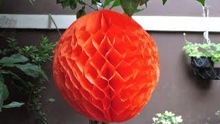 Como hacer bolas de papel de nido de abeja