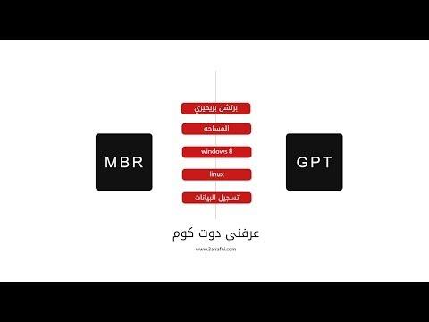 الفرق بين تقنيه GPT و MBR ببساطه