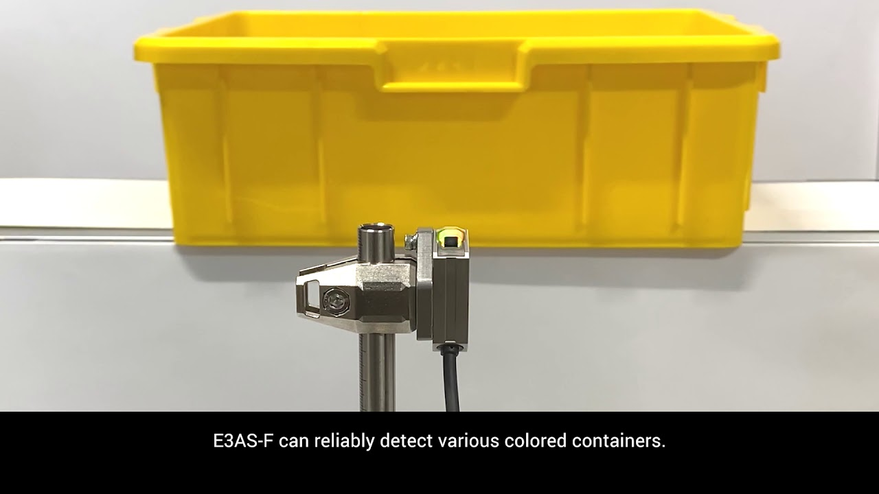 OMRON E3AS F Colored Containers Detection