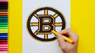 How to draw and color the Boston Bruins Logo