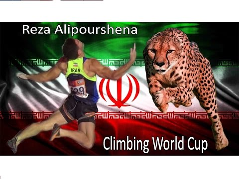 Reza Alipour (Persian Cheetah) - IFSC Speed Climbing World Champion 2015 Highlights