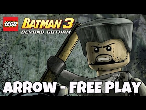 Arrow DLC (100% FREE PLAY) LEGO Batman 3: Beyond Gotham [Gameplay, Commentary]