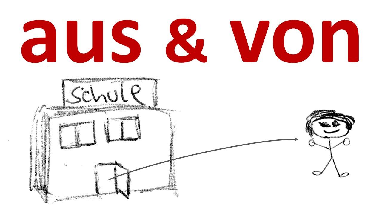 deutsch lernen unterschied zwischen aus und von the difference between aus and von in german. Black Bedroom Furniture Sets. Home Design Ideas