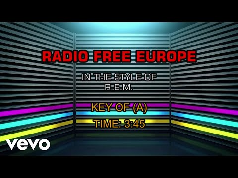 R.E.M. - Radio Free Europe (Karaoke)