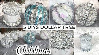 5 DOLLAR TREE CHRISTMAS DIYS   DIY DOLLAR TREE CHRISTMAS ORNAMENTS CRAFTS 2019   PETALISBLESS