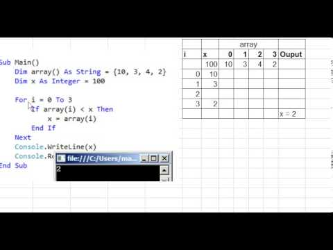 Trace table worked example  YouTube