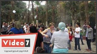 """وصلة""""رقص نوبى""""لأعضاء الحزب المصرى الديمقراطى احتفالا بتأسيسه"""