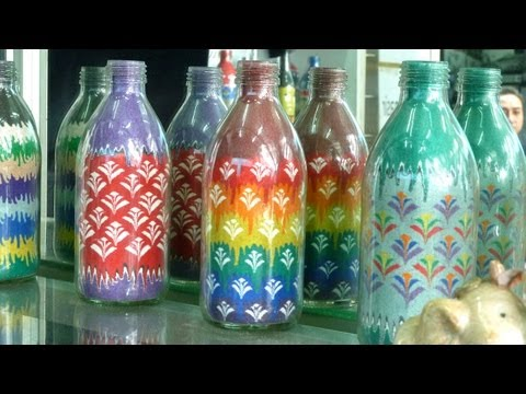 Learn how to do the sand art bottle (1) by Rezan Yusef