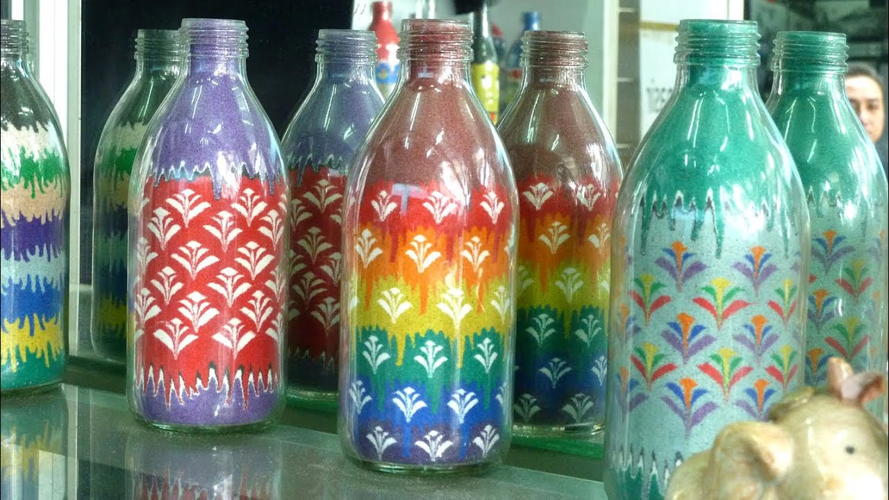 Learn How To Do The Sand Art Bottle 1 By Rezan Yusef Youtube
