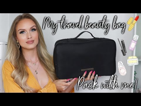 WHAT'S IN MY TRAVEL MAKEUP/SKINCARE BAG + HOW I PACK ♡ PACK WITH ME 2019 thumbnail