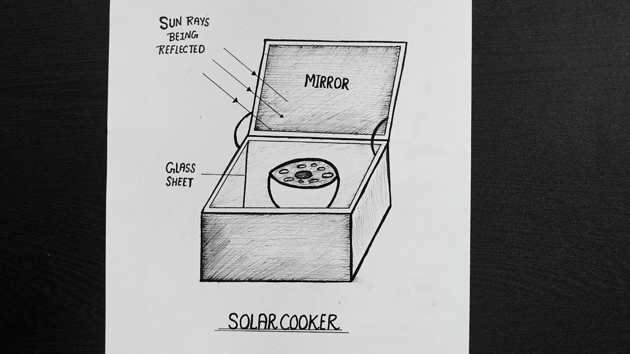 How To Draw Solar Cooker
