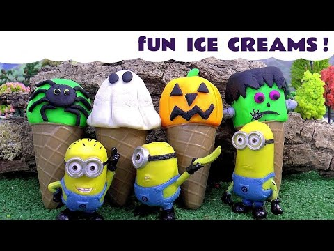 Thumbnail: Halloween Funny Minions Spooky Play Doh Ice Cream and Thomas and Friends | Spiderman Shopkins