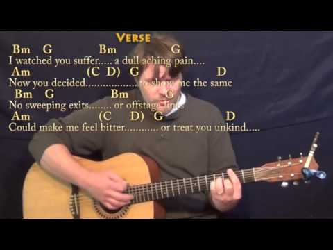Wild Horses (The Rolling Stones) Strum Guitar Cover Lesson with Chords/Lyrics