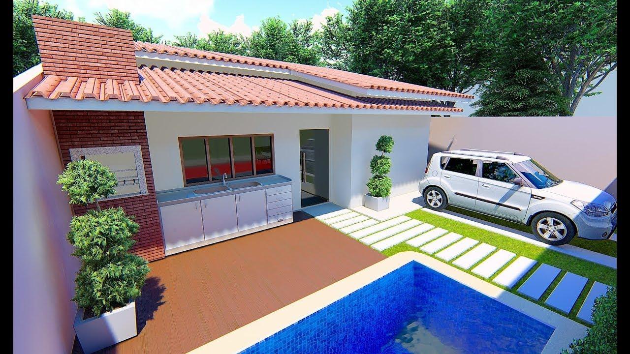 Planta de casa 10x20 compre projeto r 189 90 whatsapp - Terreno con casa ...