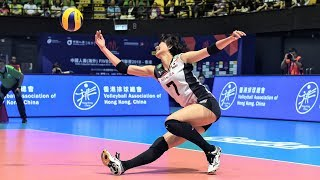 Fantastic Volleyball Actions (THA vs JPN) GREAT RALLY | DIGS SAVES | Women's VNL 2018