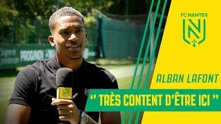 """Alban Lafont : """"Très content d'être ici"""""""