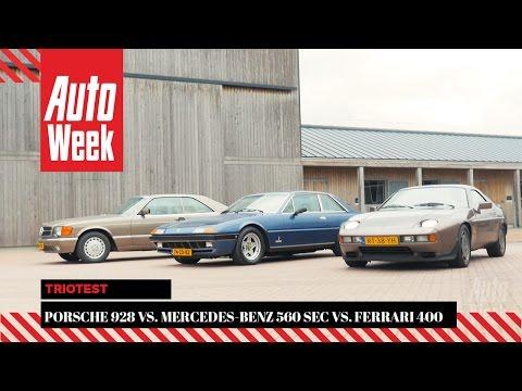 Porsche 928 vs. Mercedes 560 SEC vs. Ferrari 400i   - AutoWeek Classics Triotest