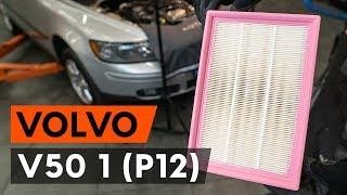 Kaip pakeisti Variklio oro filtras VOLVO V50 (MW) - vaizdo vadovas