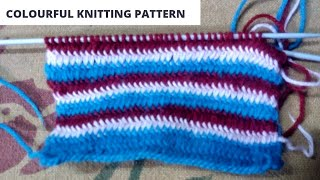 Bright colourful knitting pattern