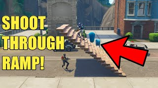 *NEW GLITCH* HOW TO SHOOT THROUGH RAMPS! FORTNITE BATTLE ROYALE